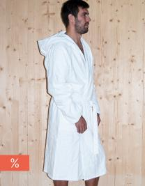 Quick-Dry Bathrobe Hooded / Men